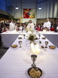 Maundy Thursday Eucharist Celebration in a Catholic Church, Paris, France, Europe