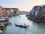 A Gondola Crossing the Grand Canal, Venice, UNESCO World Heritage Site, Veneto, Italy, Europe
