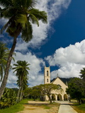Chruch in Tropical Surroundings, Beau Vallon, Mahe, Seychelles, Africa