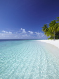 Tropical Island and Lagoon, Ari Atoll, Maldives, Indian Ocean, Asia