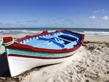 Small Boat on Tourist Beach the Mediterranean Sea, Djerba Island, Tunisia, North Africa, Africa