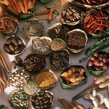 Spices Used in Thai, Indian, Indonesian and Malay Food, Thailand, Southeast Asia, Asia
