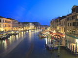 Grand Canal at Dusk, Venice, UNESCO World Heritage Site, Veneto, Italy, Europe