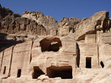 Rock-Cut Nabatean Tombs, Petra, UNESCO World Heritage Site, Jordan, Middle East