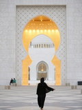 Main Entrance, Sheikh Zayed Grand Mosque, Abu Dhabi, United Arab Emirates, Middle East