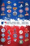 Major League Baseball Logos Map 2012