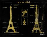 La Tour Eiffel : or sur fond noir