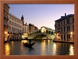 Rialto Bridge, Grand Canal, Venice, Italy Framed Photographic Print