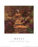 Garden Path at Giverny Art Print