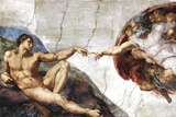 Buy Michelangelo (Creation of Adam) Art Poster Print at AllPosters.com