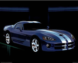 Dodge Viper Blue Car Art Print Poster