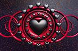 Trevor Scobie (Gothic Heart) Art Poster Print