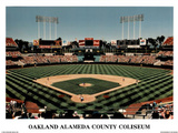 Ira Rosen Oakland Athletics Alameda County Coliseum Sports Poster Print Mini Poster