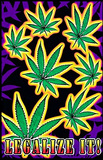 Legalize It Pot Marijuana Blacklight Poster Print