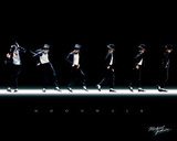 Michael Jackson - Moonwalk, Music Poster Print