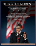 Barack Obama (This Is Our Moment) Art Poster Print Mini Poster