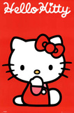 Hello Kitty Red Art Print Poster
