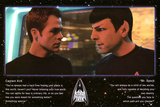 Star Trek Movie Kirk and Spock Quotes Poster Print