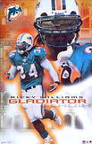 Miami Dolphins Ricky Williams Gladiator Sports Poster Print