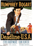 COLLECTABLE Deadline USA MOVIE POSTER Humphrey Bogart