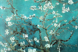 Vincent Van Gogh Turquoise Almond Branches in Bloom, San Remy Art Poster Print Poster