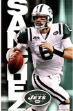 New York Jets Mark Sanchez with Football Sports Poster Print