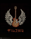 Free Bird (Guitar, Lyrics) Music Poster Print Mini Poster