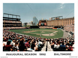Ira Rosen Baltimore Orioles Camden Yards Inaugural Season 1992 Sport Poster Print Mini Poster