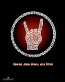 Kiss (Rock and Roll All Nite Lyrics) Music Poster Print Mini Poster