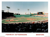 Ira Rosen Boston Red Sox Fenway Afternoon Sports Poster Print Mini Poster