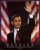 Barack Obama (Destiny) Art Poster Print Mini Poster