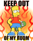 Buy The Simpsons Keep Out Of My Room Bart Simpson TV Poster Print at AllPosters.com