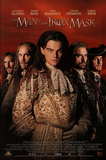 The Man in the Iron Mask Movie Leonardo Dicaprio Jeremy Irons John Malkovich Original Poster