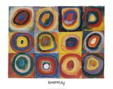 Farbstudie Quadrate mit Konzentrischen Ringen Art Print