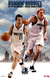 Dallas Mavericks Dirk Nowitzki Steve Nash Runnin' Buddies Sports Poster Print