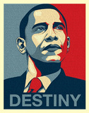 Barack Obama (Destiny, Entire Speech) Art Poster Print Mini Poster