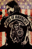 Sons of Anarchy Logo Flag TV Poster Print Poster