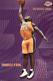 Los Angeles Lakers Shaquille O'Neal Sports Poster Print