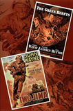 John Wayne Double Feature Green Berets and Iwo Jima Movie Poster Print