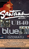 Santana w/ UB40 (2002 Concert Flyer) Original Huge Music Poster