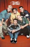 N' Sync (Group, Red) Music Poster Print