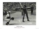 Hulton/Getty (Fidel Castro at Bat) Art Poster Print