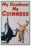 My Goodness My Guinness (Art Deco) Advertisement Poster