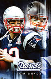 New England Patriots Tom Brady Sports Poster Print