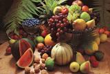 Frutta Fresca (Fresh Fruit Still Life) Art Poster Print Poster