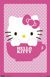 Hello Kitty Teacup Art Print Poster