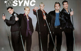 N' Sync (Group with Microphones) Music Poster Print