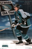 San Jose Sharks Teemu Selanne The Finn Sports Poster Print