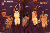 Los Angeles Lakers 2001 Group Sports Poster Print