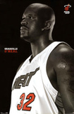 Shaquille O'Neal Profile POSTER Miami Heat NBA NEW RARE
